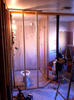 Framing out small guest bath
